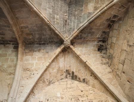 abbeys: Fragment of Bellapais Abbeys interior (The Abbey of Peace)