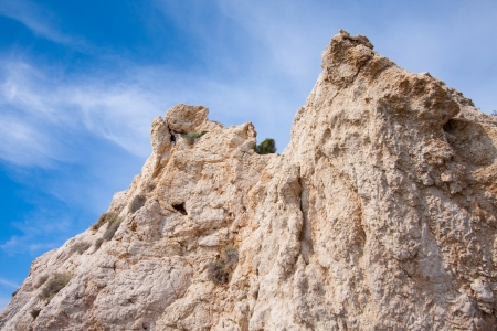 afrodita: Enorme roca encima de Afrodita