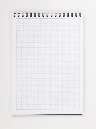 Squared Paper Loose Leaf Note Sheet On White Background Photo  Loose Leaf Paper Background