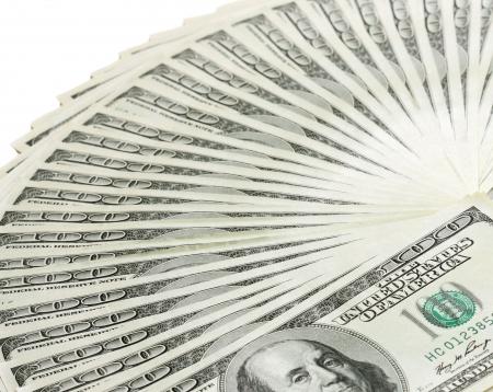 Fan of dollar banknotes Stock Photo