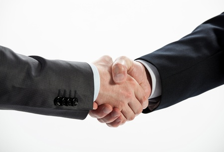 Business handshake isolated on white Stock Photo - 20935028