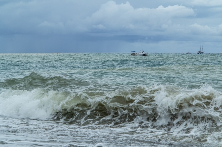 Storming sea photo