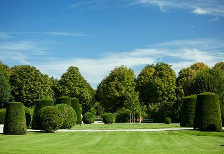 Beautiful summer Schonbrunn park, Vienna photo