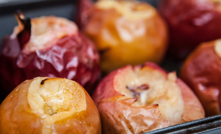brownish: Brownish apples - closeup shot