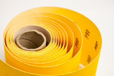 abrasive: Yellow abrasive paper - closeup shot