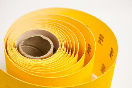 Yellow abrasive paper - closeup shot