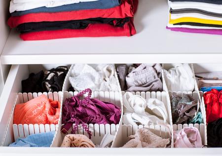 Clothes in a wardrobe - closeup shot