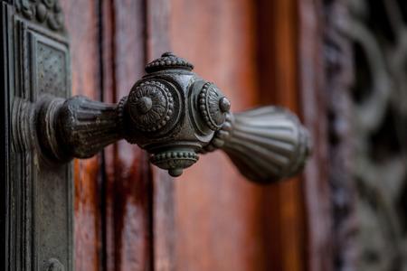 doorhandle: Doorhandle on doors of Museum of Art History, Vienna Stock Photo