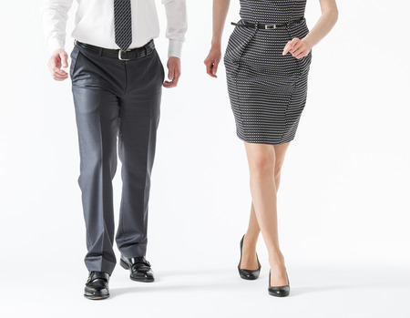 forth: Business people going forth, white background