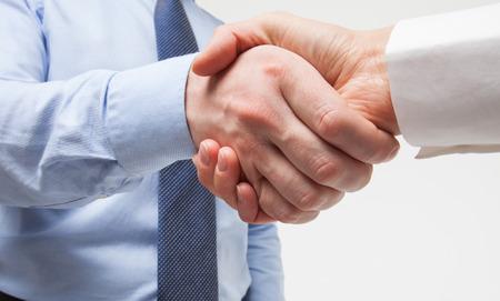 strong partnership: Business handshake - closeup shot