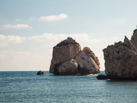 tou: Petra tou Romiou (The rock of the Greek), Aphrodites legendary birthplace in Paphos, Cyprus