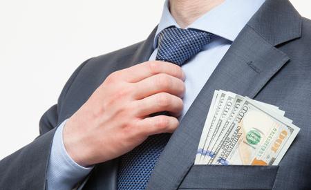 corruptible: Businessman in a suit
