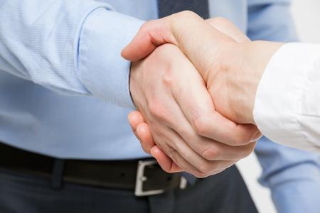 honesty: Business handshake - closeup shot