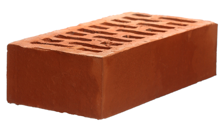 Construction materials: brick isolated on white