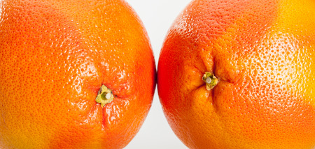 neutral: Ripe grapefruits on neutral background