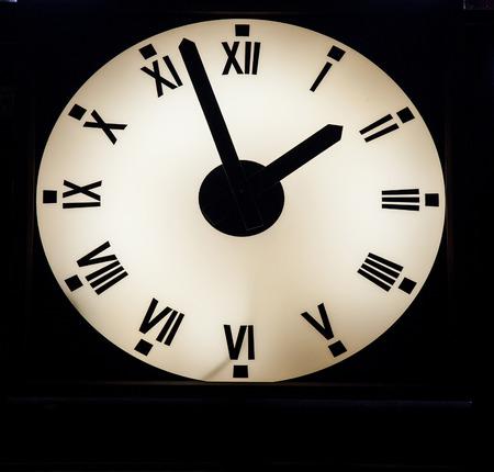 luminous: Luminous wall clock, closeup shot