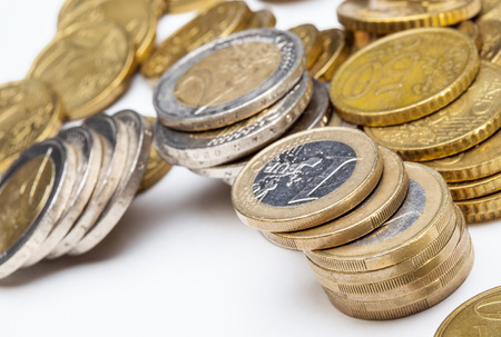 depreciation: Concept of a depreciation euro, macor shot