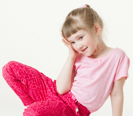 vexation: Pretty little girl was the loser, white background