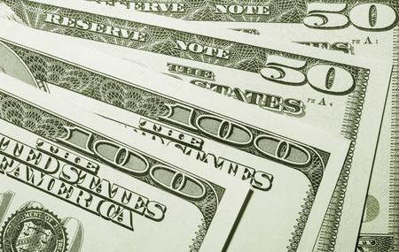 fantail: Fantail from dollars banknotes - closeup shot