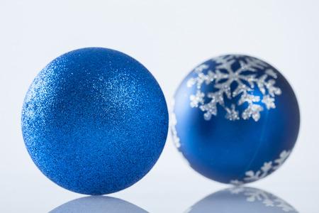 sheen: Beautiful Christmas ball on white background - closeup shot
