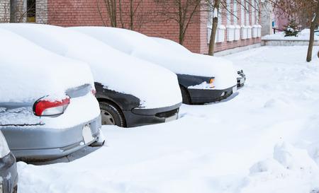 snowbound: Snowbound cars - winter landscape