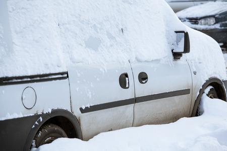 snowbound: Snowbound car - winter landscape