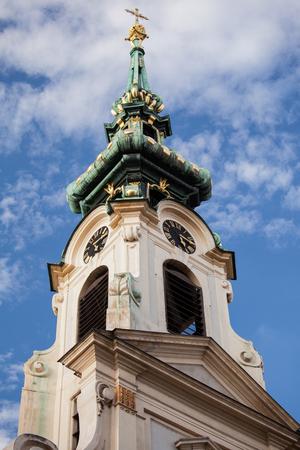broach: Beautiful broach of a chapel against blue sky, Vienna