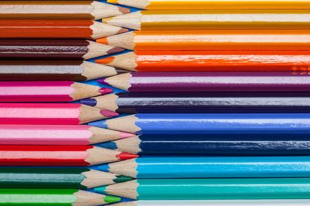 acuminate: Colorful pencils background, closeup shot