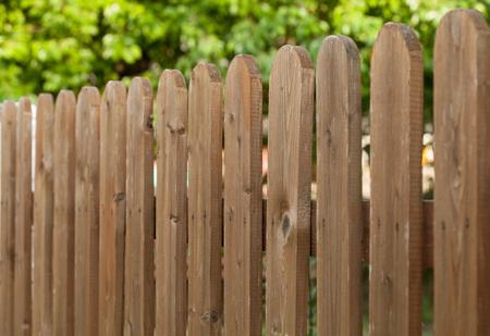 Fragment van een houten hek - close-up shot