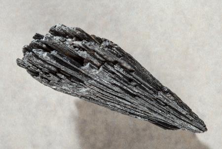 admixture: kyanite stone on neutral  background Stock Photo