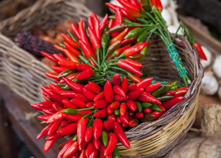 vend: Fresh vegetables on the spring market, closeup shot