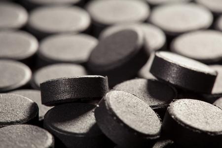 honeycombed: Absorbent carbon - macro shot