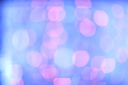 Gentle bokeh blue and purple defocused lights, abstract backround