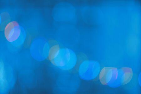 Blue bokeh defocused lights, abstract backround