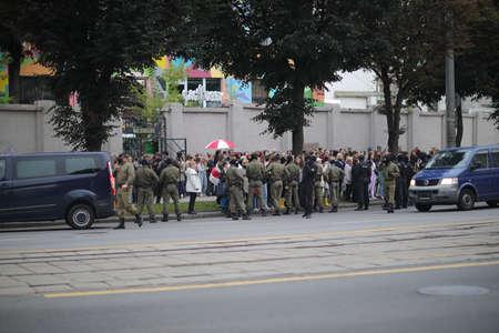 Minsk, Belarus - September 8, 2020: Protests in Belarus