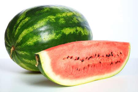Closeup shoot of watermelon on the white background Foto de archivo