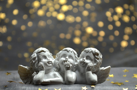 he is a traditional: Christmas angels figure