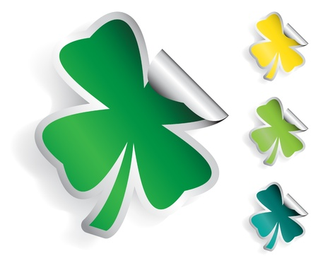 Clover Sticker Vector
