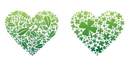 Green Hearts Vector