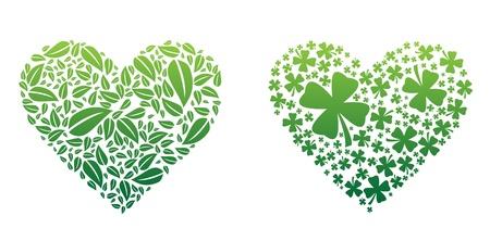 Green Hearts Ilustrace