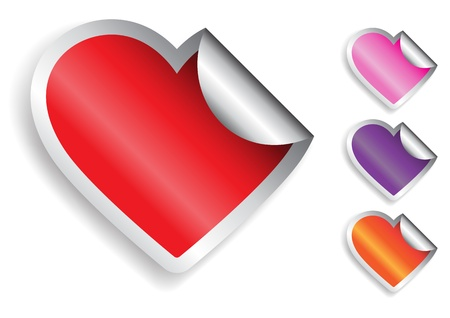 Heart Sticker Stock Vector - 18693598