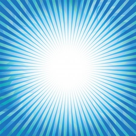 Aqua Sunrise Illustration