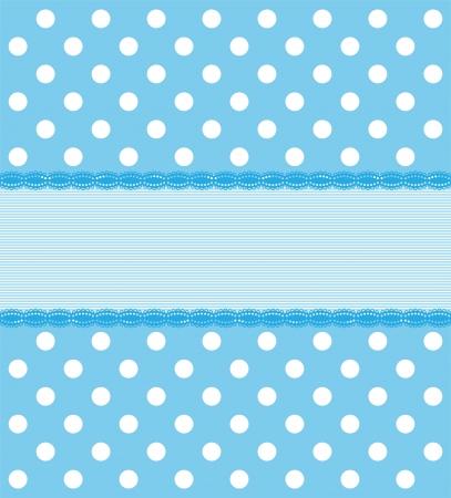 Blue Polkadot Background 矢量图像