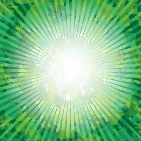 bright: Clover Sunrise Illustration