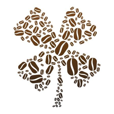 coffee beans: Coffee Bean Clover Illustration