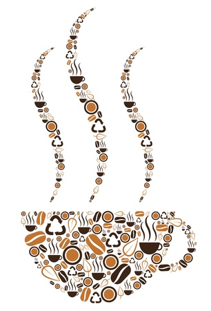 coffee beans: Coffee Cup Symbolic