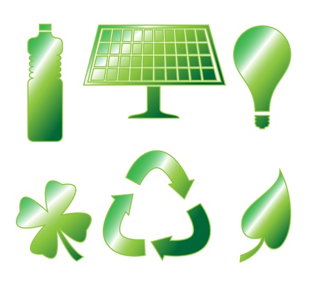 Go Green Icon Vector Pack Ilustrace