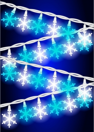 Snow Flake Lights Ilustração