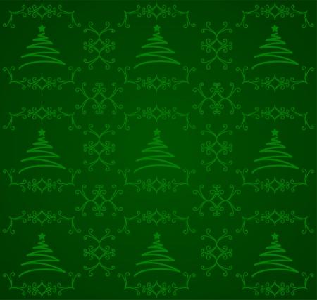 Green Christmas Tree Background Çizim