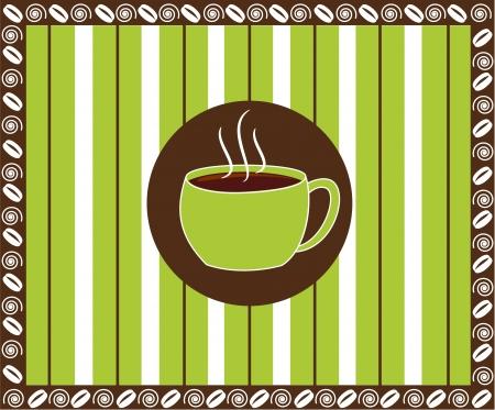 paper pin: Pinstripe Coffee Illustration